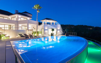 Real Estate night photography in Marbella, Málaga