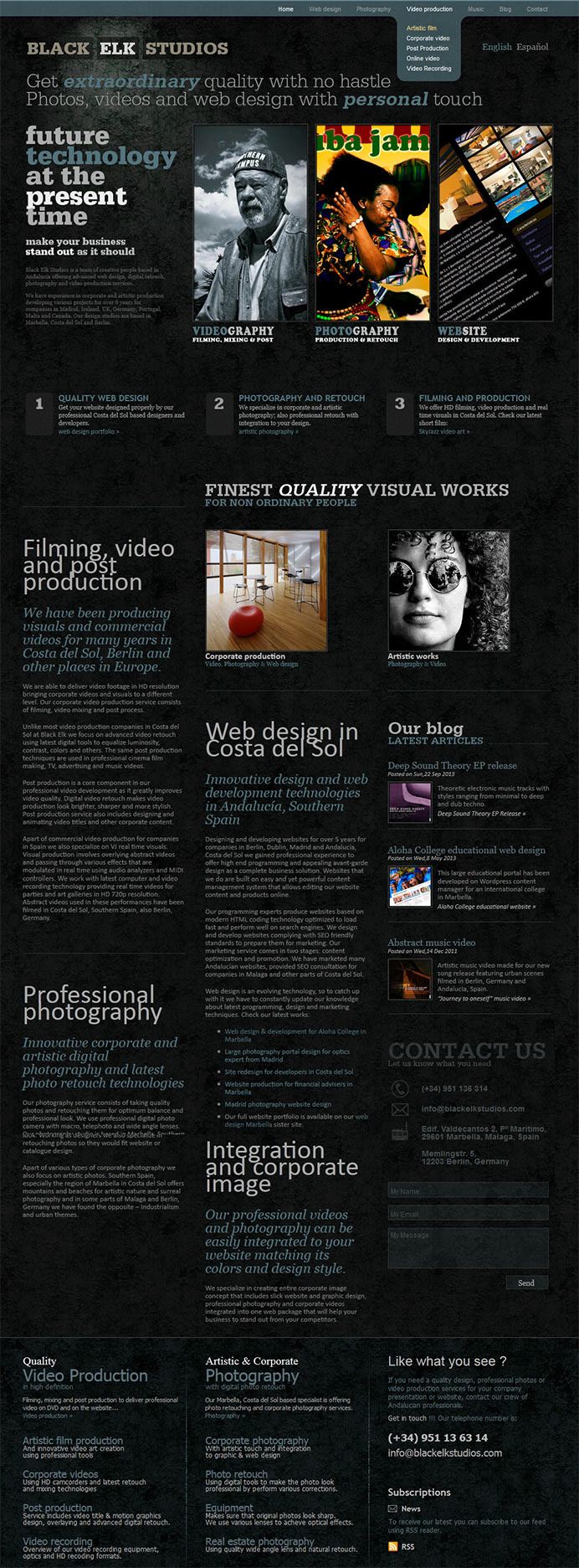 Studio specializes in designing and developing websites, video production and photography in Madird, Marbella and Berlin