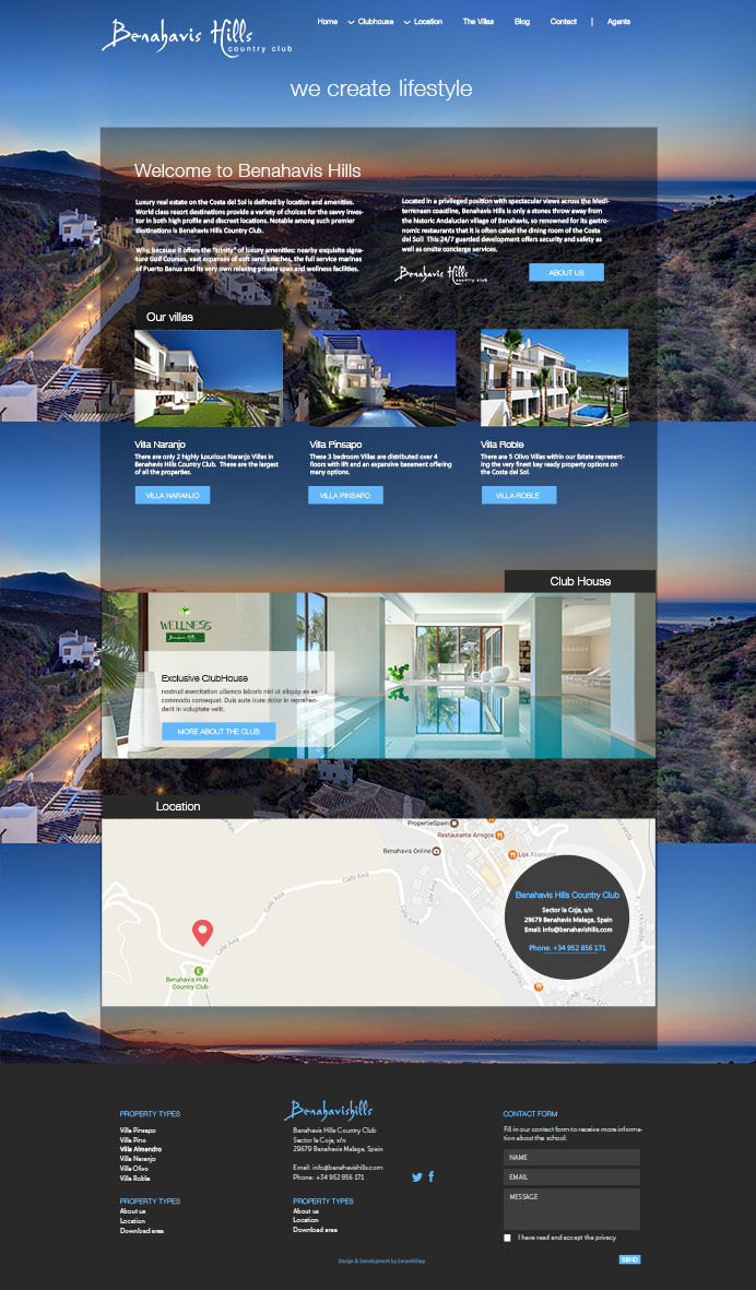 Elegant property resort website design and development