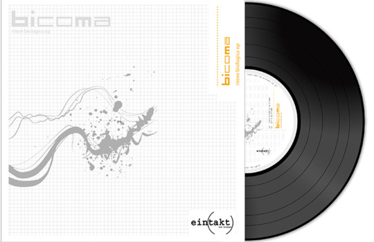 Futuristic electronic music vinyl cover design