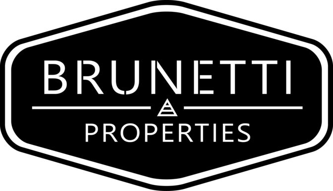 Brunnetti real estate logo design based on classic Italian style