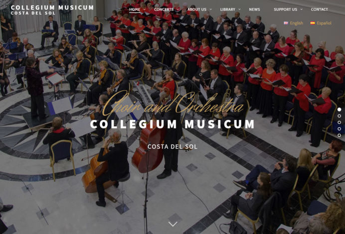 Music website design for an orchestra in Costa del Sol