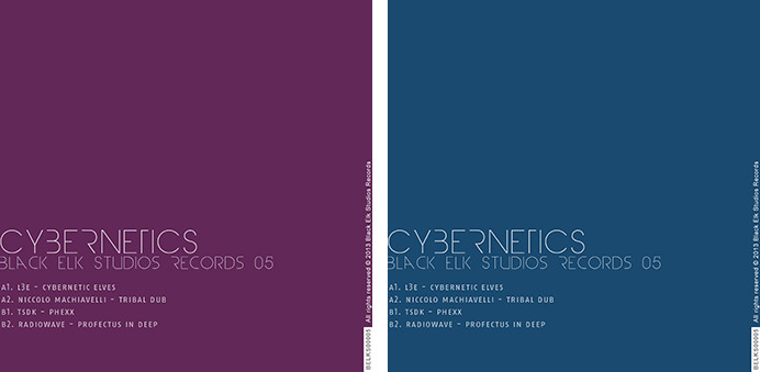 Cybernetics EP album covers in different colors