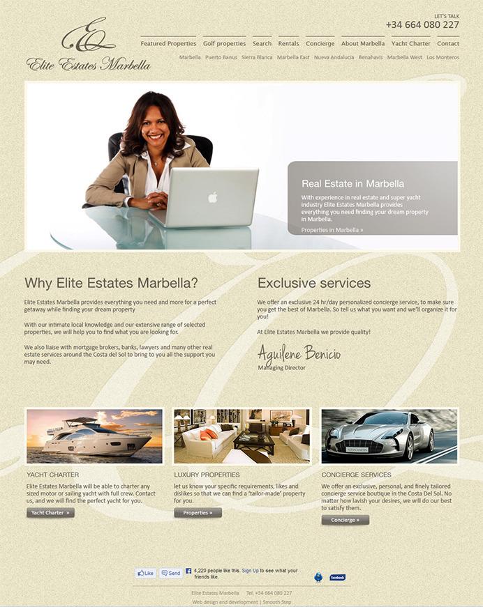Redise o y desarrollo p gina web inmobiliaria elite for Paginas inmobiliarias
