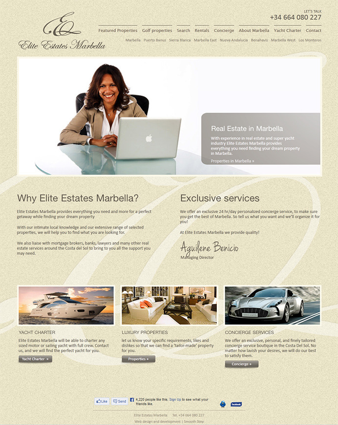 Redesign and reprogramming real estate website in Marbella