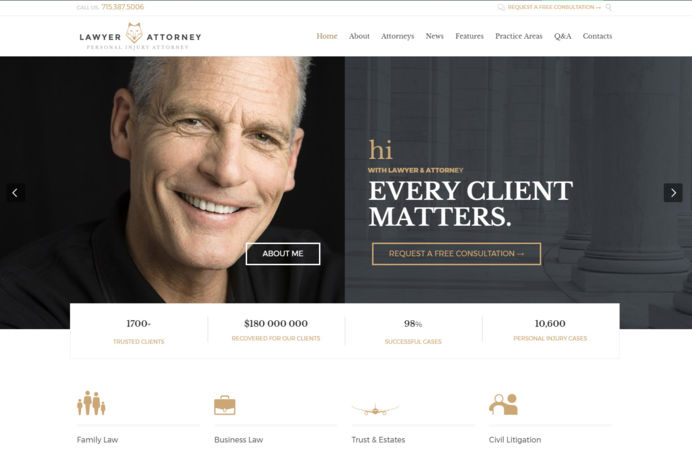 Wordpress website design for lawyers in Marbella