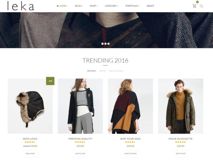 Prestashop e-commerce shop template