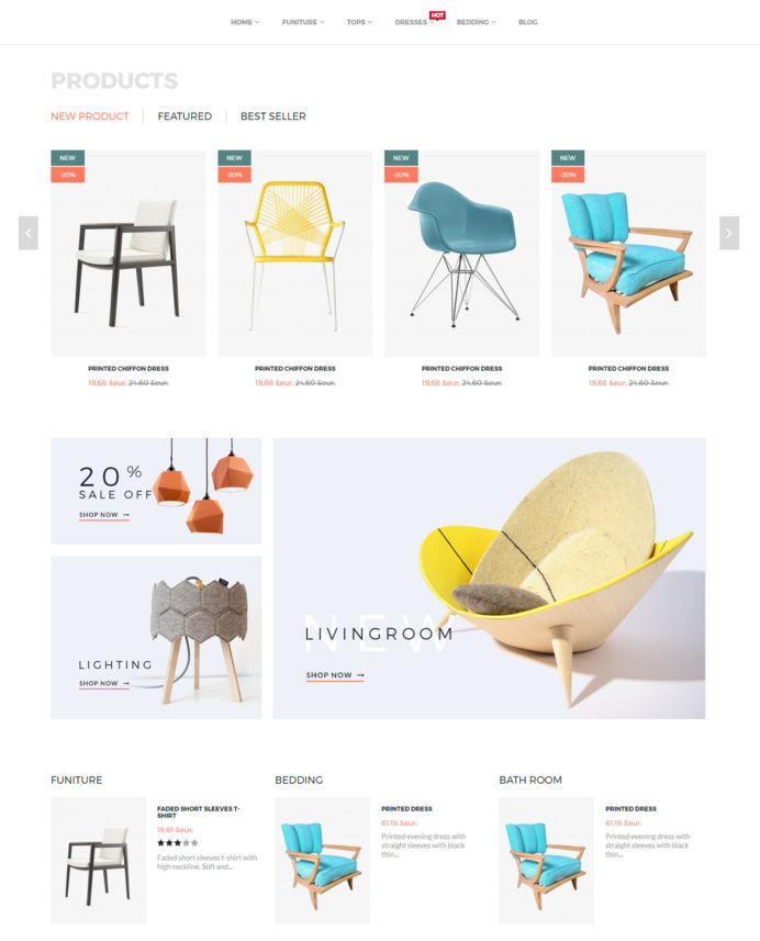 Indecor online shop for furniture and interior design accessories