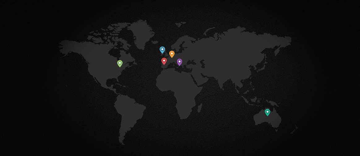 Our web design clients on the map