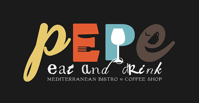 Creative and colorful logo design for a bistro restaurant in Marbella, Malaga