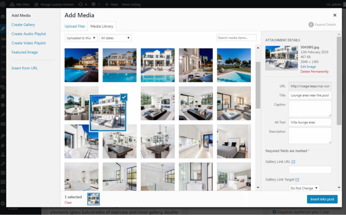 Real estate photo manager