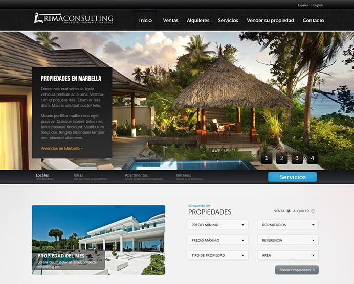 portfolio de nuestros dise os de p ginas web On paginas de inmobiliarias