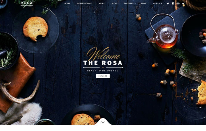 Elegant theme designed for bars and restaurants
