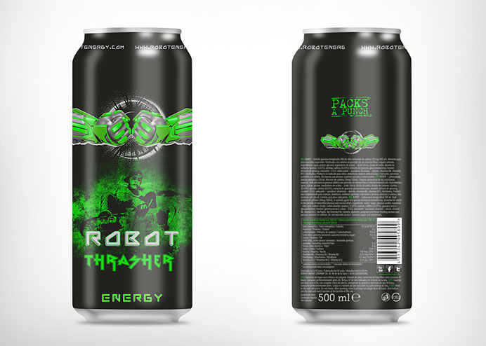 Urban can label design for energy drink