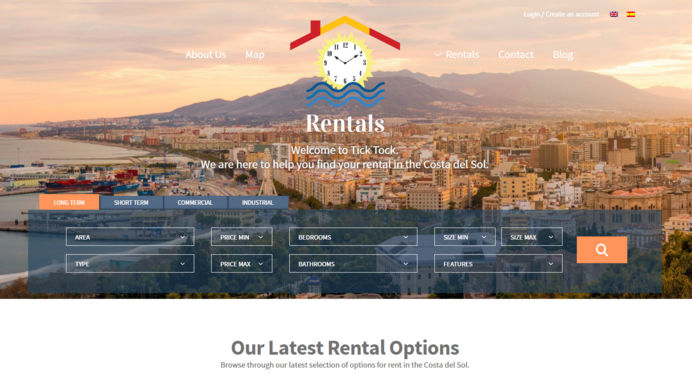 Exclusive real estate website design for a rental company in Costa del Sol, Spain